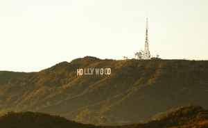Extreme Long Shot showing Hollywood sign