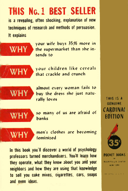 Hidden Persuaders back cover